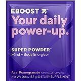EBOOST SUPER POWDER Mind + Body Energizer, Acai Pomegranate Flavor, 20 Count