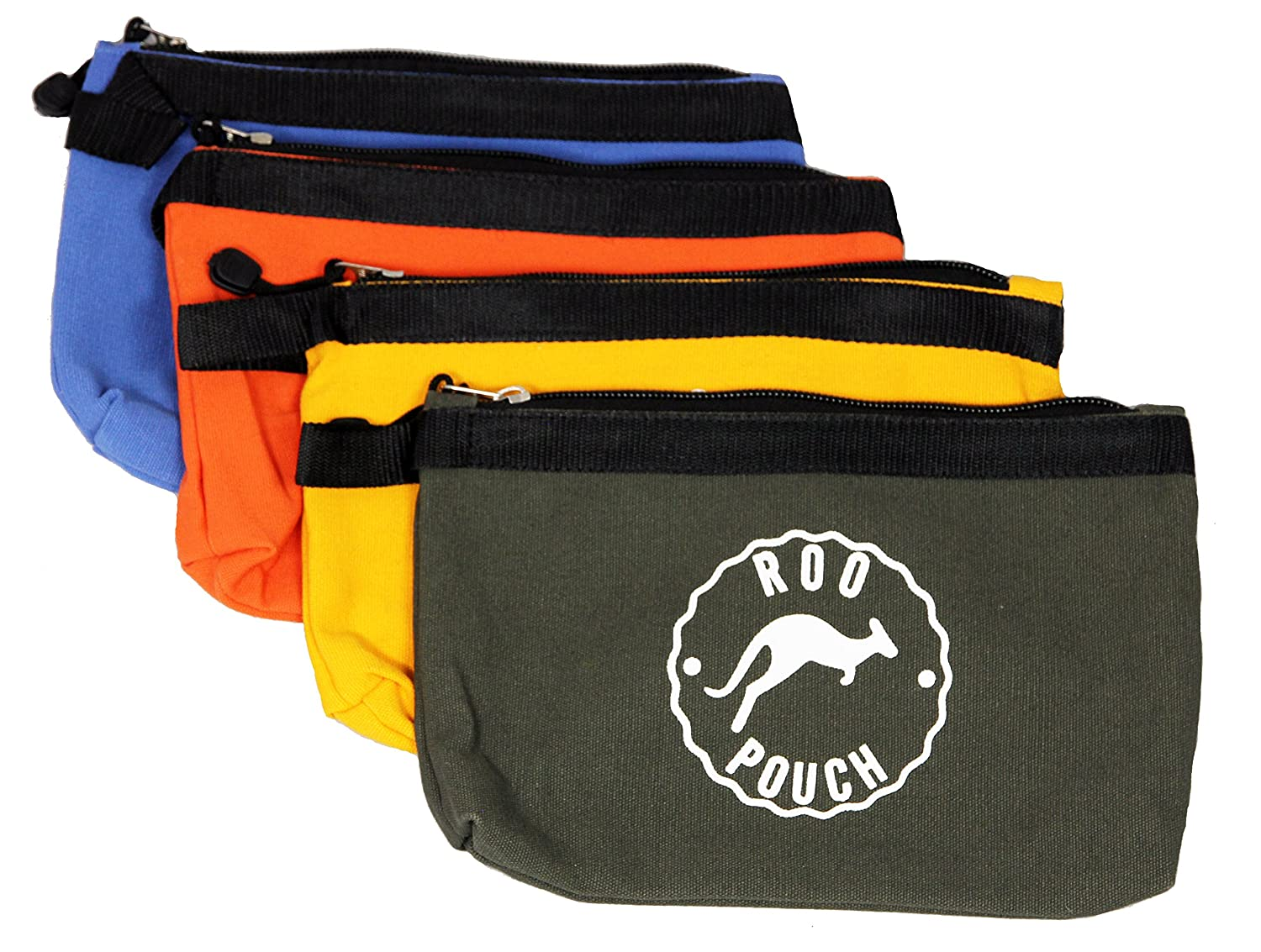 Roo Pouch Tool Bag Includes 4 Heavy Duty Canvas Zipper Tool Bags Great for Organizing Small Tools