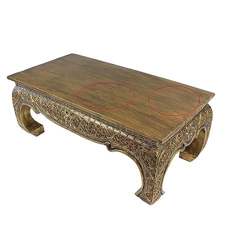 Gran mesa de mesa Opium Antiguo Dorado Look 1 m x 50 cm B – Ware ...