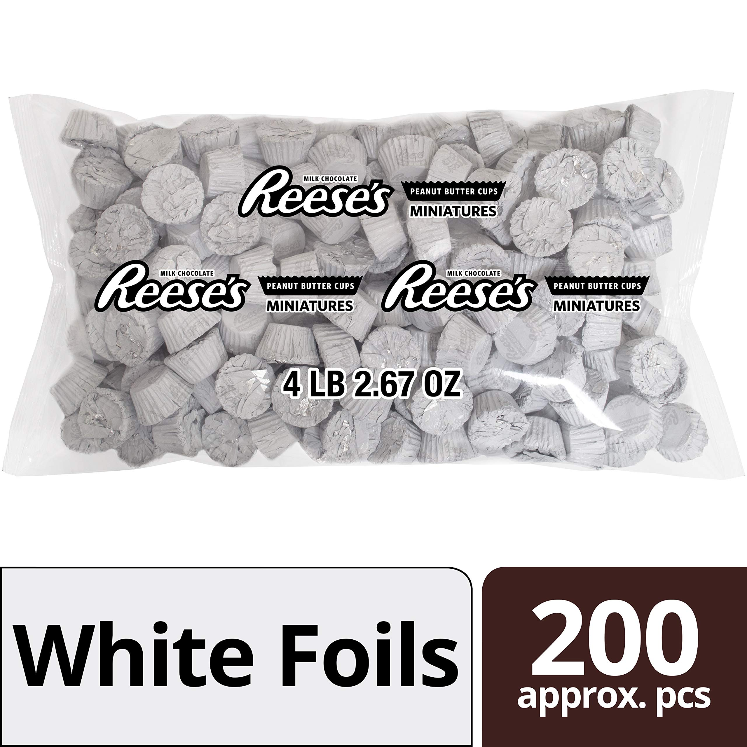 REESE'S Peanut Butter Cups, Chocolate Candy, Miniatures, White, 66.7 Ounce Bulk Candy by Reese's
