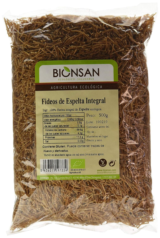 Bionsan Fideo Integral de Trigo Espelta - 6 Paquetes de 500 gr ...