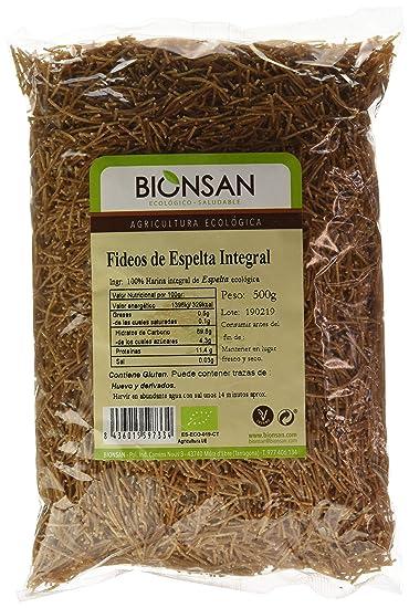 Bionsan Fideo Integral de Espelta - 6 Paquetes de 500 gr ...