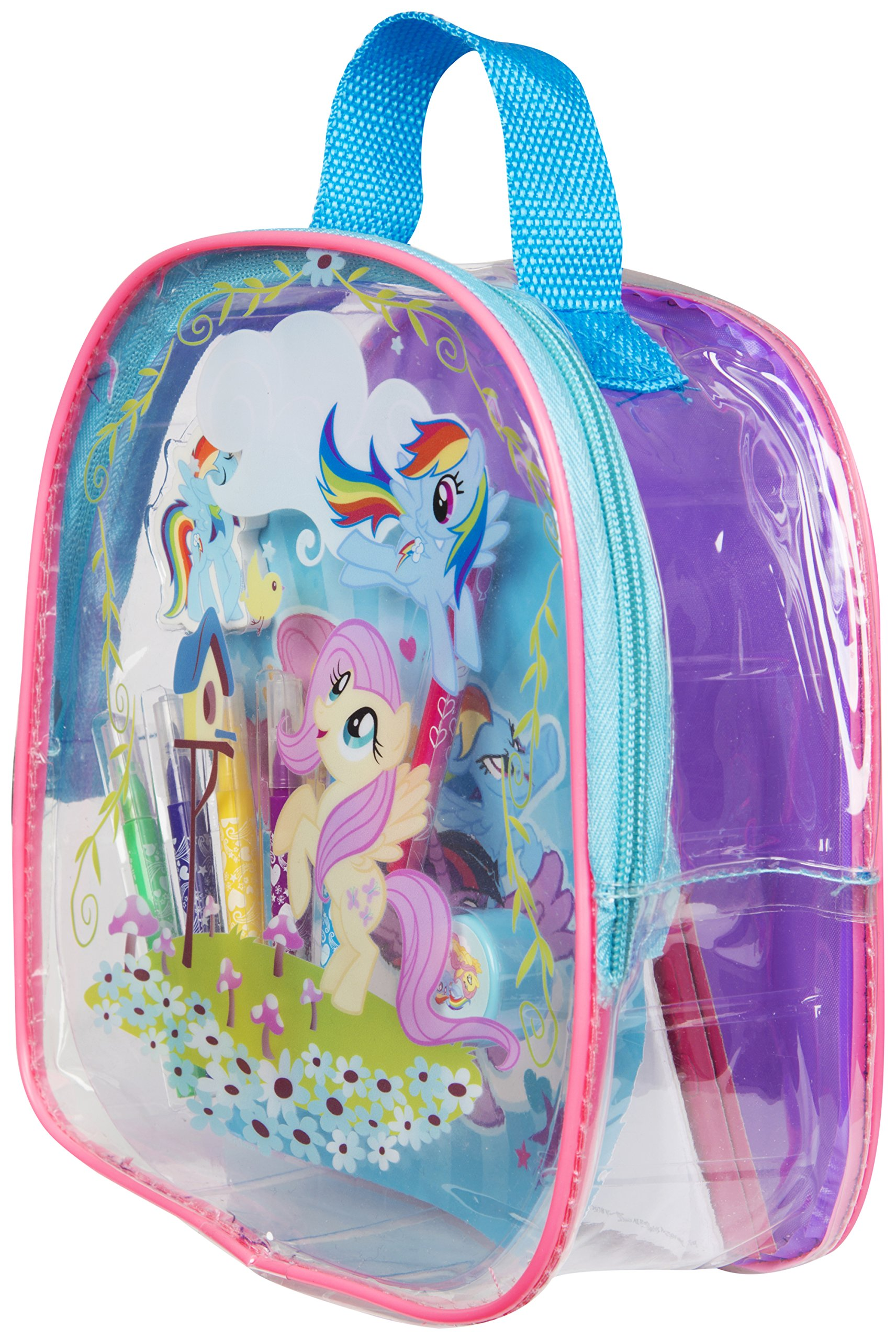 Sambro My My little Pony Arts and Crafts Filled Backpack Drawing Stencil kit for Kids Educational Support Multicolour