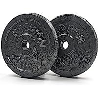 PROIRON Gietijzeren halterschijven Set 1.25kg, 2.5kg, 5kg, 10kg (keuze uit maten) voor 1 inch halter handvat bar
