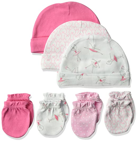 0c9880d1270 Amazon.com  Hudson Baby Baby Girls  Cotton Cap and Scratch Mitten ...