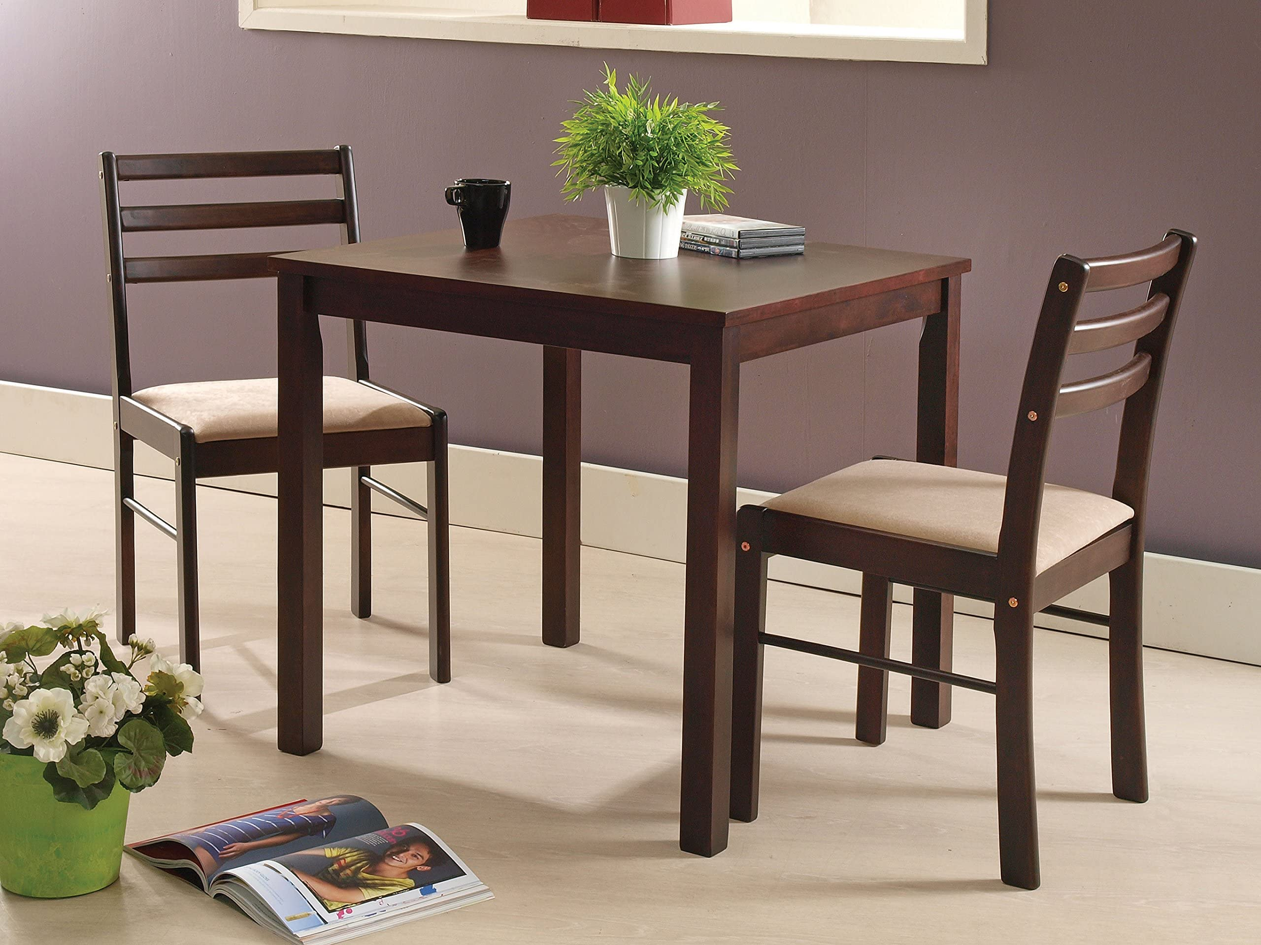 Kings Brand Furniture 3 Piece Dining Room Kitchen Dinette Set Table u0026 2 Chairs  sc 1 st  Amazon.com & Table u0026 Chair Sets | Amazon.com