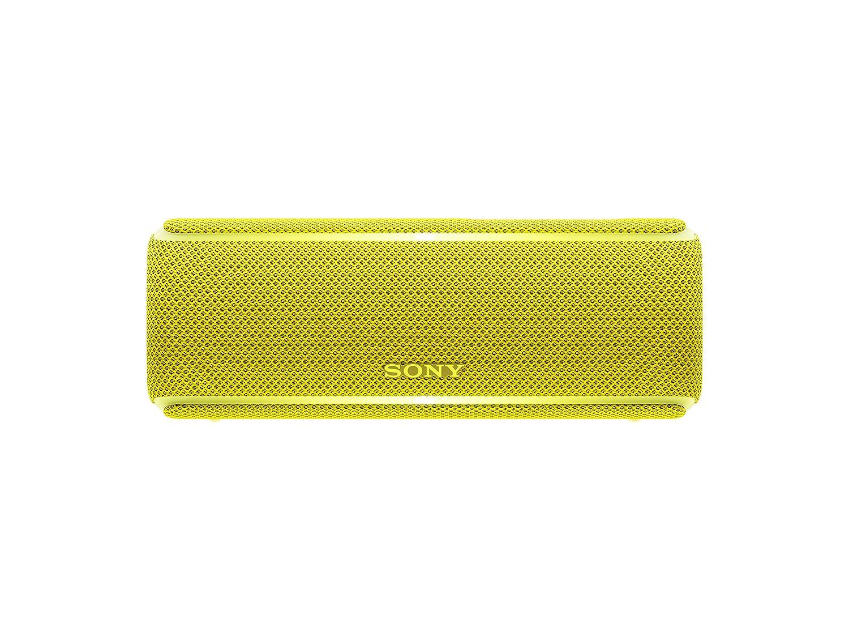 Sony SRSXB21Y - Altavoz portátil Bluetooth (Extra bass, modo sonido live, party booster, luces de fiesta llamativas), color amarillo