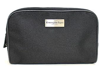 4f68bbb2 ERMENEGILDO ZEGNA parfums black small toiletry / wash bag for men , square  * new