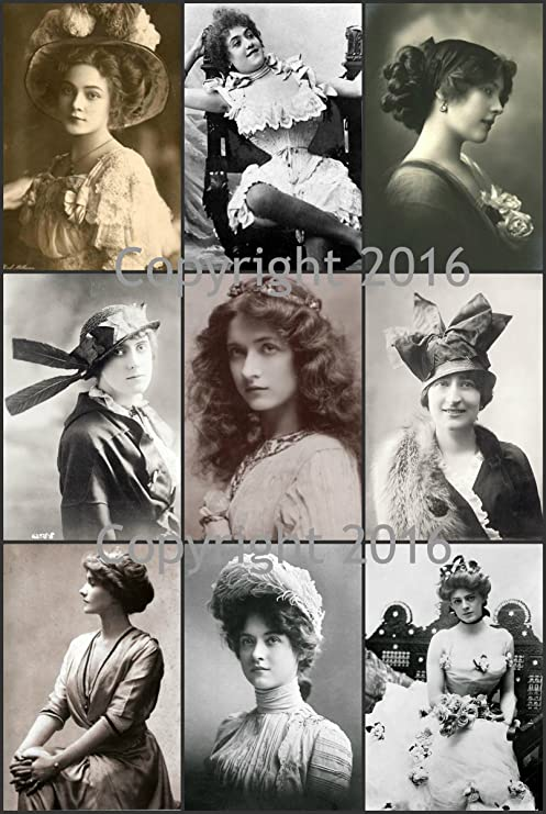 Vintage Women Photo Collage #107 Collage Sheet