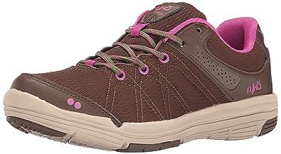 RYKA Women's Summit Walking Shoe, Earth Brown/Nutria/Dahlia Mauve/Doeskin,