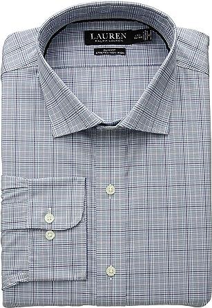 948cc58318a Lauren Ralph Lauren Men s Slim Fit Non Iron Stretch Poplin Dress Shirt Blue  Slate Wine