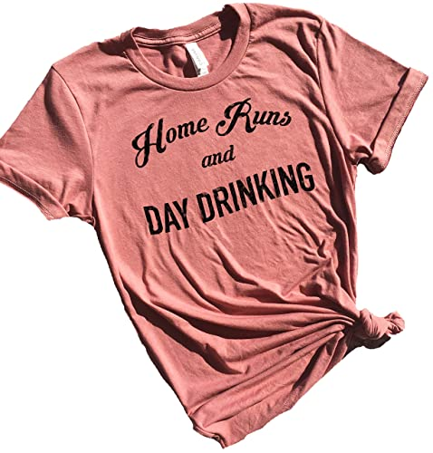 7d64c135 Image Unavailable. Image not available for. Color: Home Runs and Day  Drinking, Baseball Mom Shirts ...