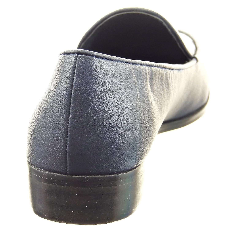 Sopily - Zapatillas de Moda Mocasines Bailarinas Tobillo Mujer Piel de Serpiente Patentes Talón Tacón Ancho 2.5 CM - Azul FRF-6-LX096 T 41: Amazon.es: ...