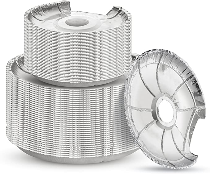 Heavy Duty Aluminum Foil Electric Stove Coil Bibs Small Round Disposable Drip Pan Liner 48 Set