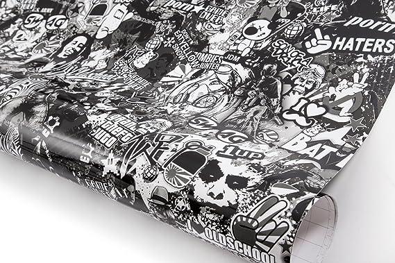 Noir//Blanc Euroda EU 407904 Stickerbomb Film Graffiti Design 1 Role 60 x 200 cm