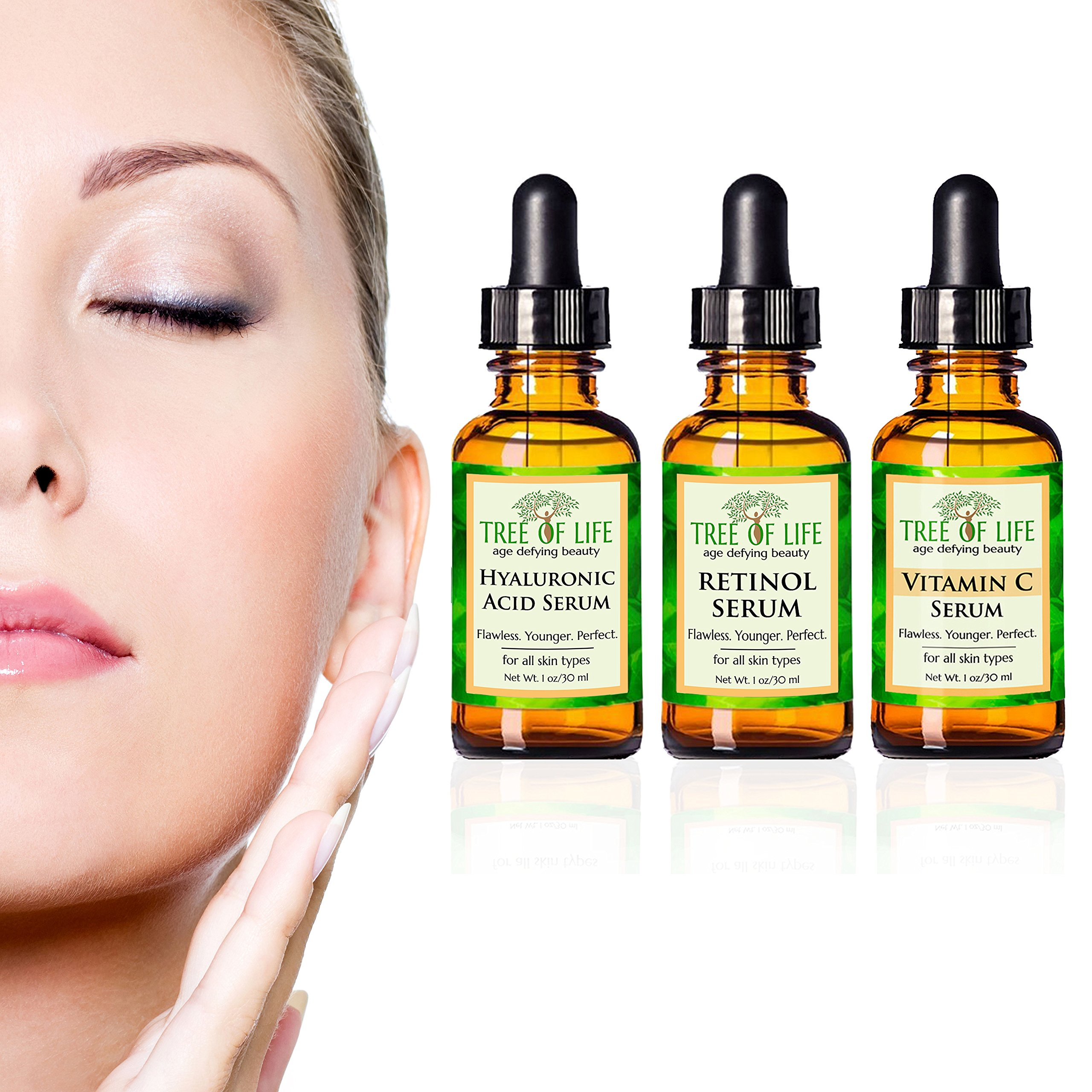 Anti Aging Serum 3-Pack - Face Serum Full Regimen by Flawless. Younger. Perfect. (Image #6)