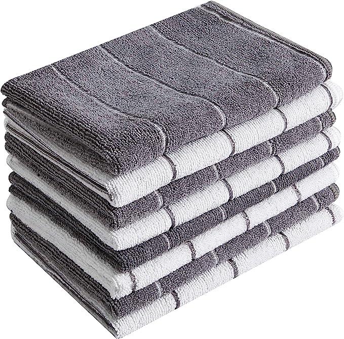 Grey, 4 PantryPal Microfibre Tea Towels Packs of 4 /& Packs of 8 45cm x 65cm