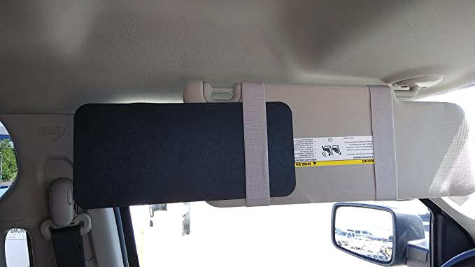 Amazon.com  Visormates Side Window Sun Visor Extenders (6x13 Black with Tan  Straps) to add to your Existing Nissan Juke 2011+ Driver and Passenger Sun  ... fa1922cc29a