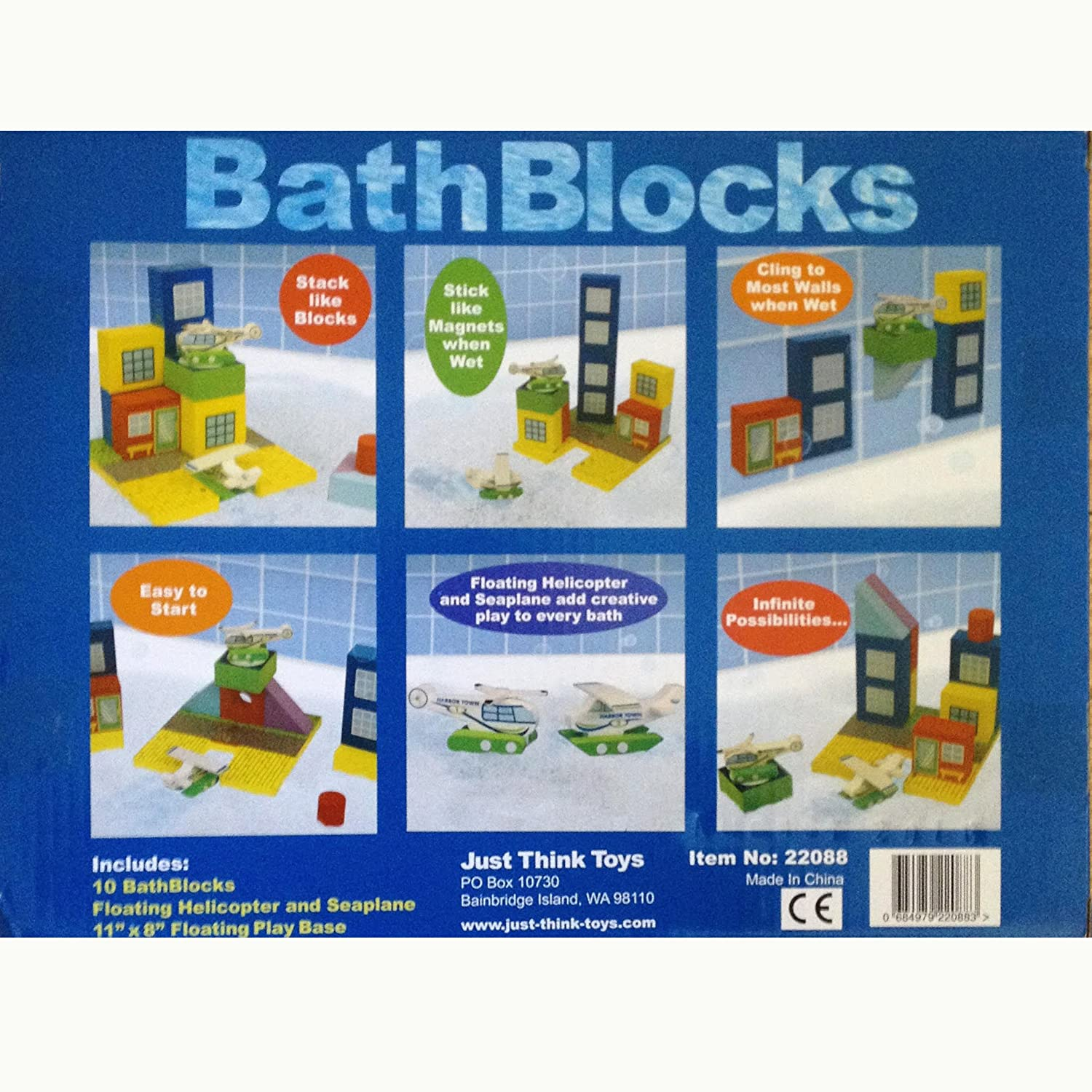 BathBlocks Floating Airport Set in Gift Box Just Think Toys 22088