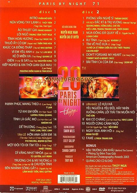 Paris by Night 71: 20th Anniversary: Amazon co uk: DVD & Blu-ray