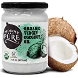 Proudly Pure Virgin & Unrefined Cold-Pressed Coconut Oil | Natural And USDA Organic Farm Produce | For Skin And Hair…