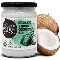 Proudly Pure Virgin & Unrefined Cold-Pressed Coconut Oil | Natural And USDA Organic...
