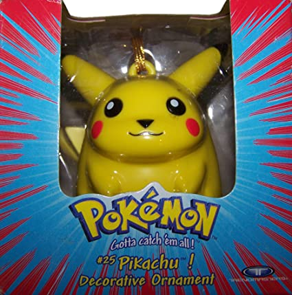 Pikachu Christmas Ornament.Pokemon Pikachu Decorative Ornament Amazon Ca Home Kitchen