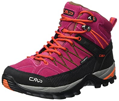 CMP Rigel Mid WP, Chaussures de Randonnée Hautes Femme, Gris (Acciaio), 36 EU