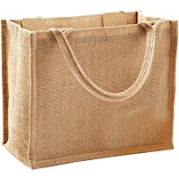 Westford Mill Jute Mini Gift Bag (6 Litres) (Pack of 2)