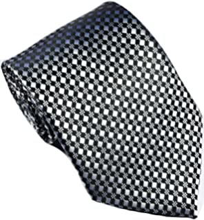5cab773af8d9 EXT Collectino 100% Silk Necktie, New Classic Checks Blue Gold Tie ...