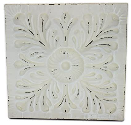 tin tile embossed white large distressed ceiling or decorative by urban