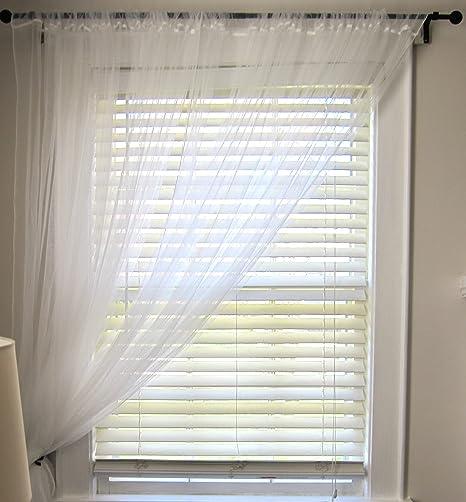 Ikea Lill - Coppia di tende in tulle, lunghezza: 3 m, colore: bianco