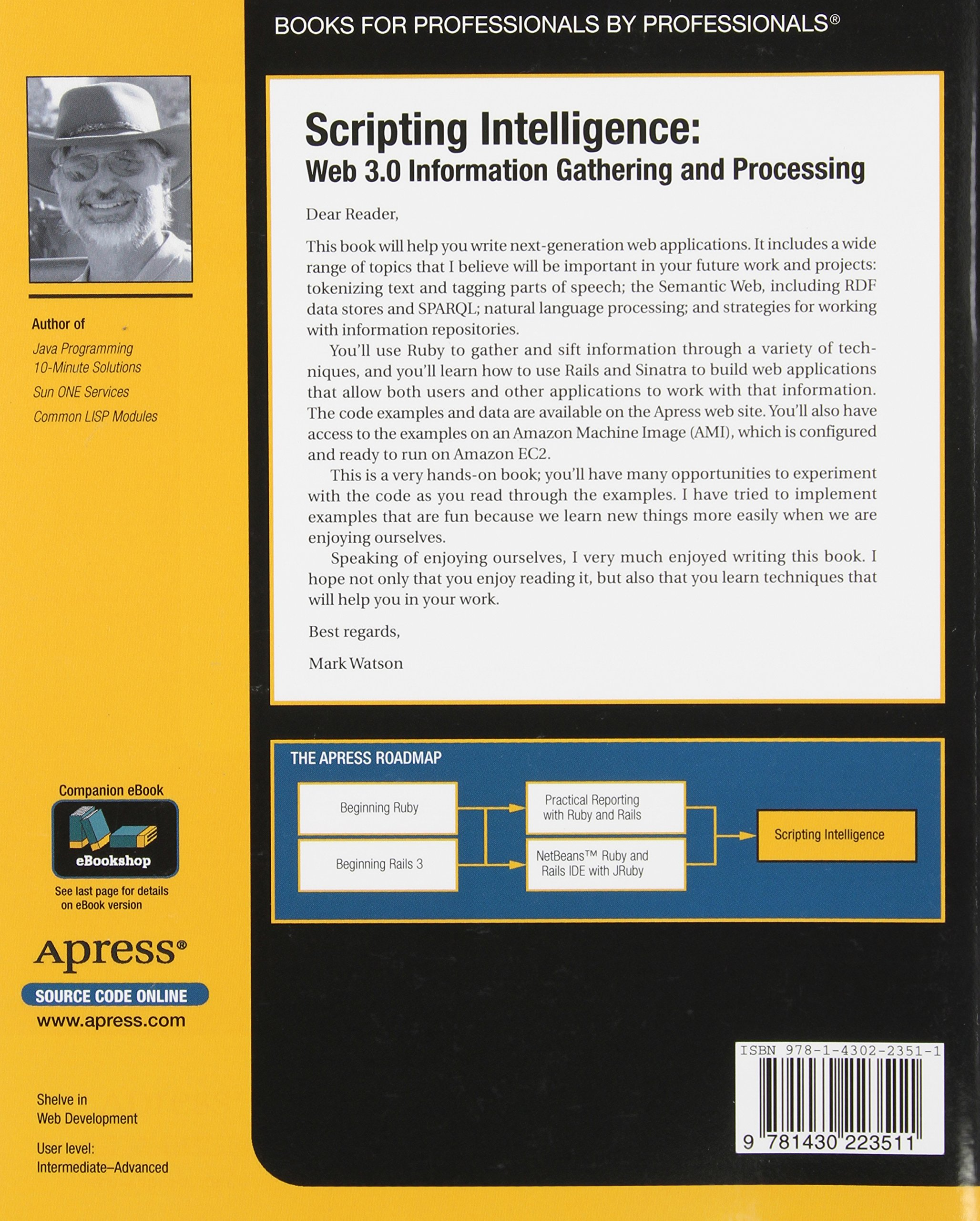 Scripting Intelligence: Web 3.0 Information Gathering and Processing (Expert's Voice in Open Source) by Brand: Apress