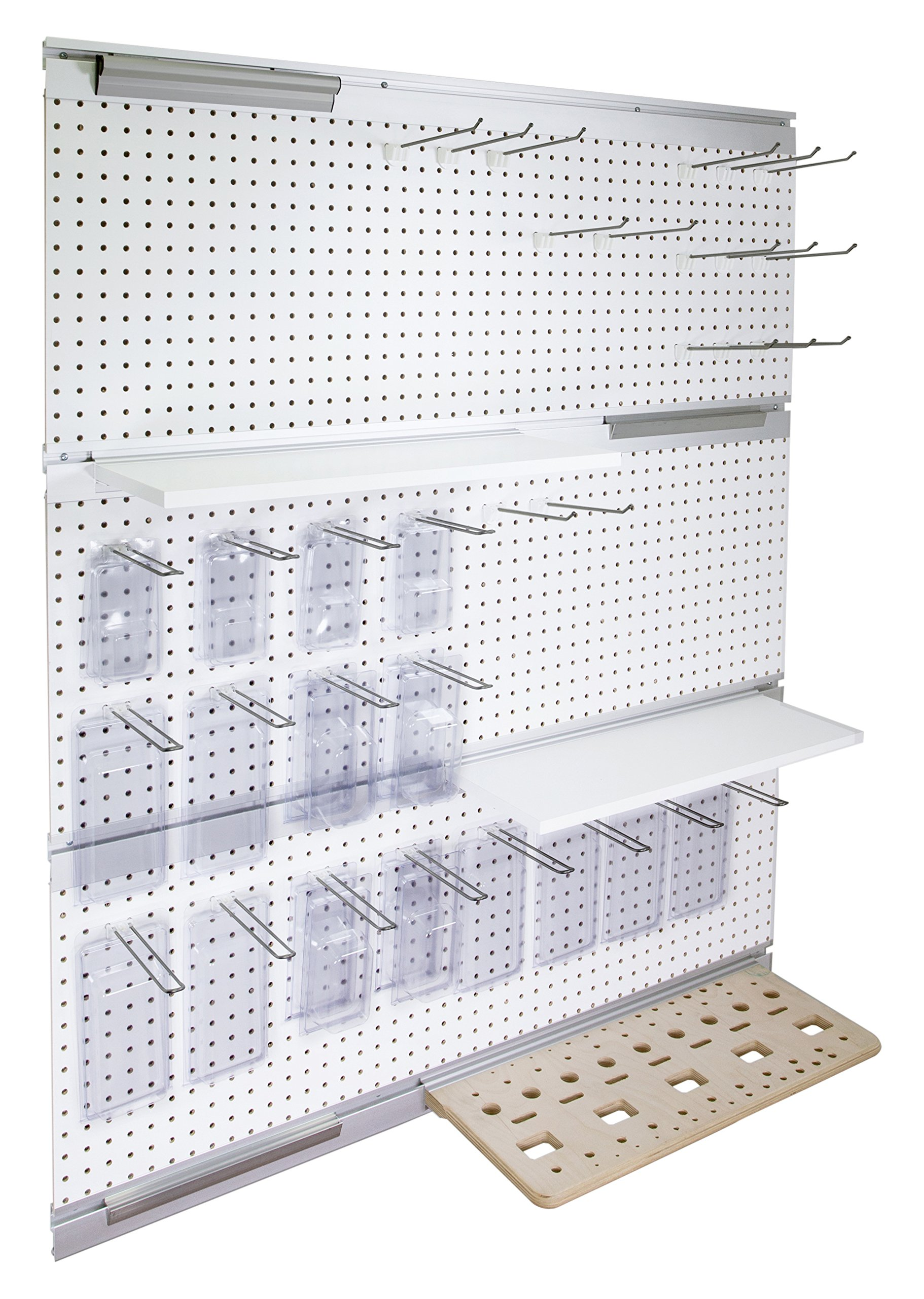 Hangman Products WO3 Wall Organizer 3 Box System, Clear Anodize Finish