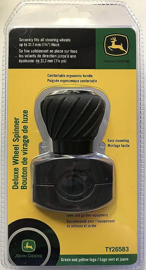 John Deere Green Logo Steering Wheel Spinner