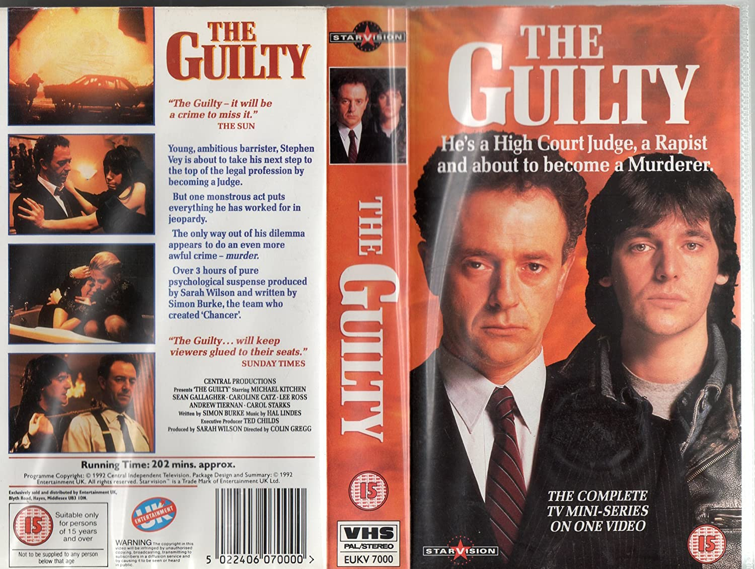 The Guilty Vhs 1992 Amazon Co Uk Michael Kitchen Sean