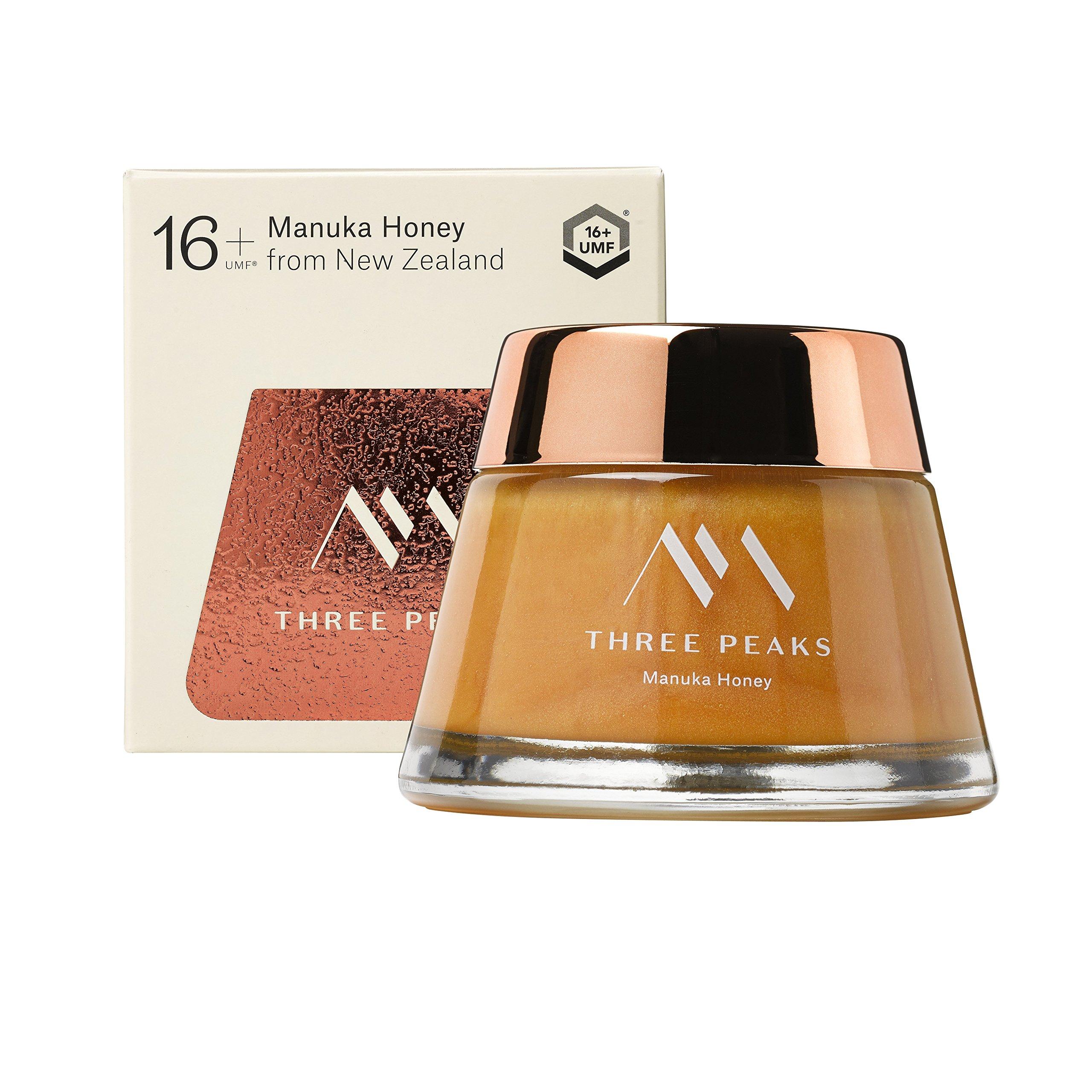 Three Peaks Manuka Honey New Zealand - Certified UMF 16+ - 7.05 oz (200gm) - 100% Natural honey, Raw honey – Ultra Premium, Healing Manuka honey