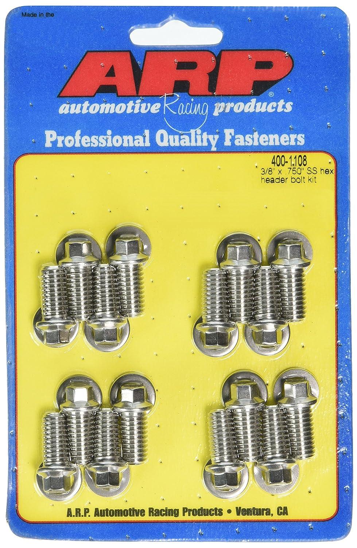 Pack of 16 400-1108 ARP 4001108 Stainless 300 Hex Header Bolt Kit