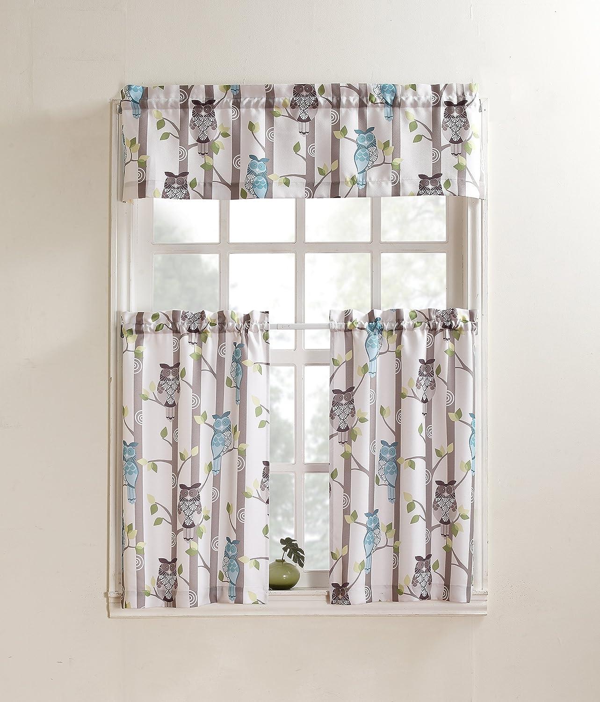 No. 918 Hoot Kitchen Curtain Valance, 56 by 14 inch, Mocha S. Lichtenberg 45083