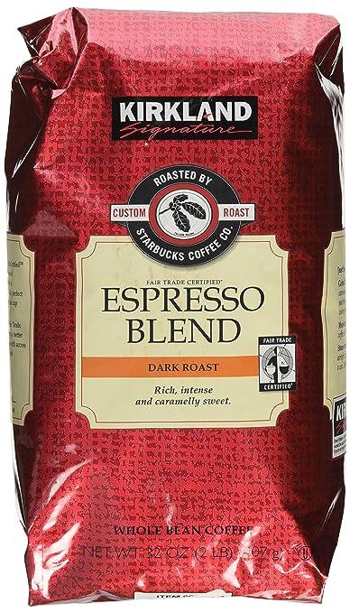 Kirkland Signature Starbucks Espresso Blend Dark Roast Whole Bean Coffee
