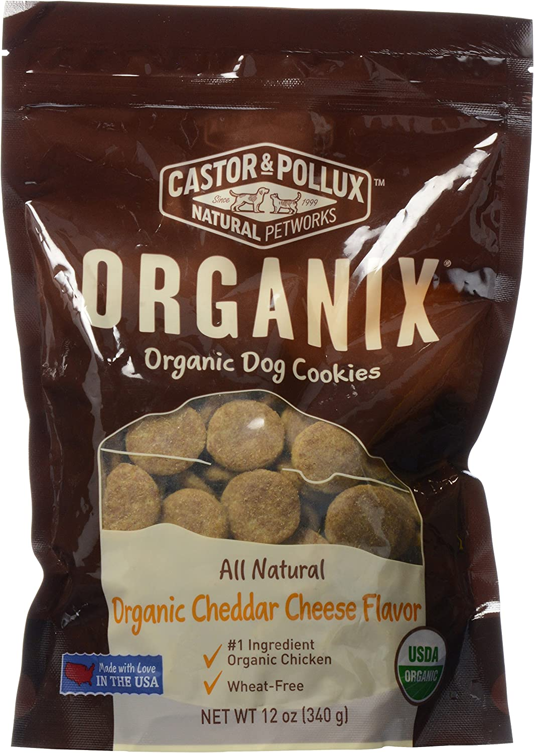 Organix, Organic Dog Treat Cookies Cheddar Cheese, 12 oz