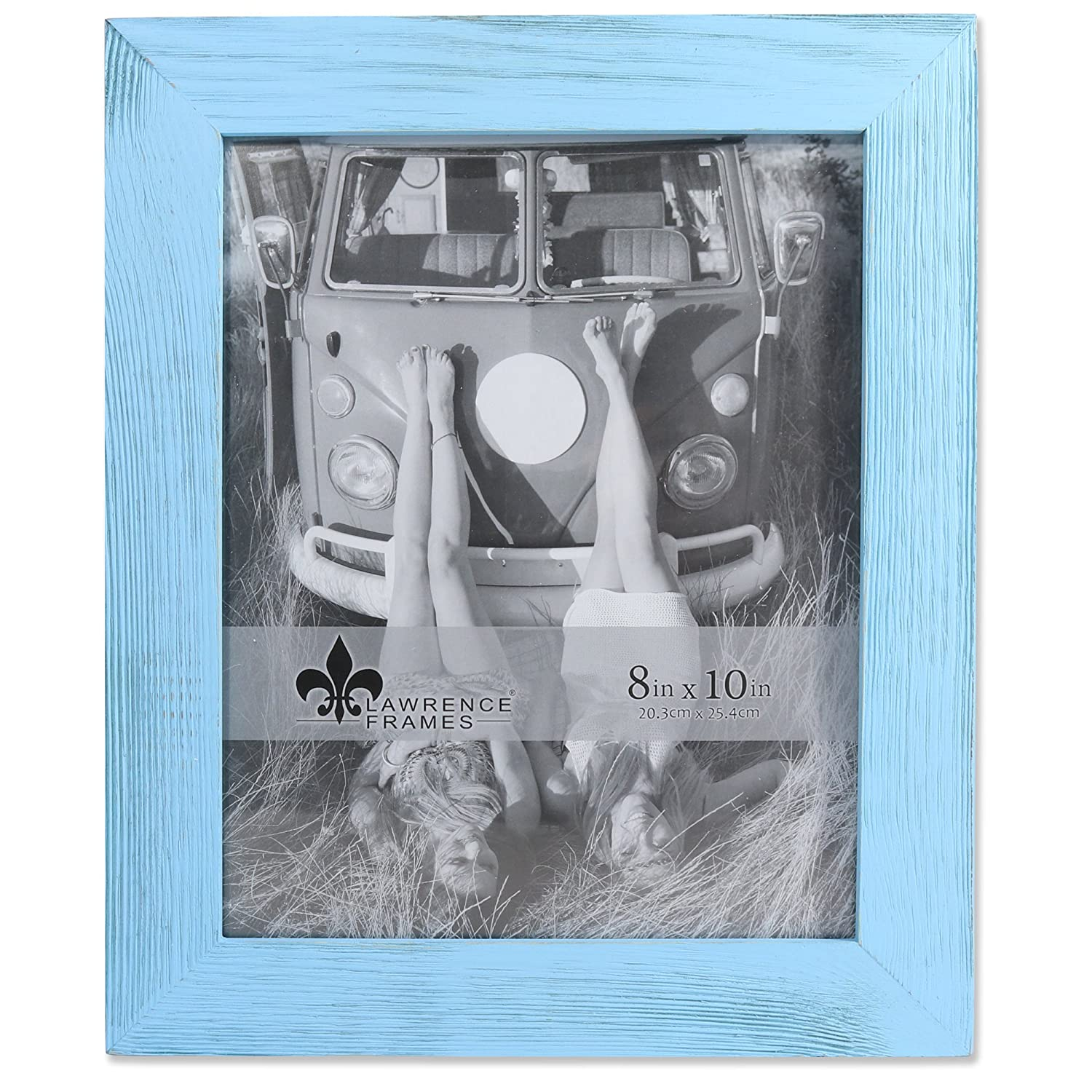 Lawrence Frames 8x10 Sarasota Weathered Blue Wood Picture 746180