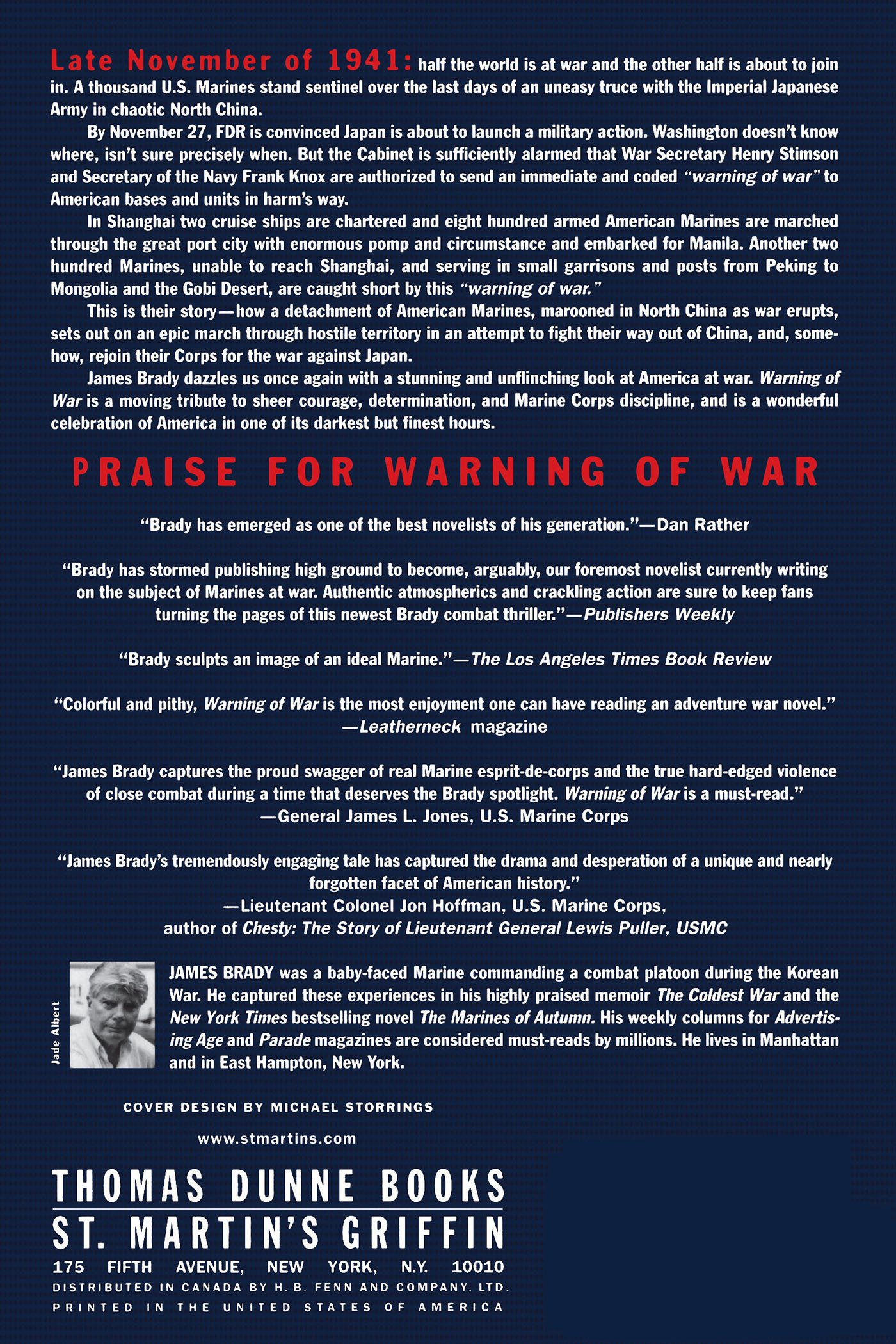 Amazon.com: Warning of War: A Novel of the North China Marines ...
