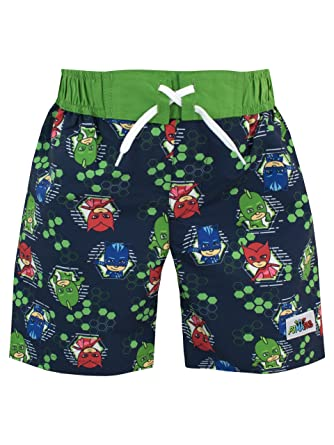 PJ Masks Boys Catboy Owlette & Gecko Swim Shorts Size 4 Multicolored