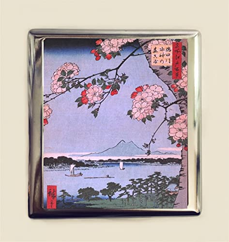 Amazon japanese cherry blossoms cigarette case business card id japanese cherry blossoms cigarette case business card id holder wallet japan woodblock asian art sakura colourmoves