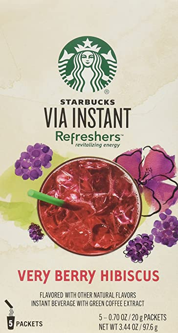Amazoncom Starbucks Via Refreshers Very Berry Hibiscus Instant