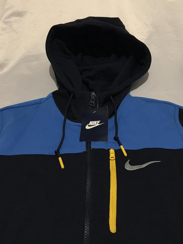 6a468d9cb58b Nike Men s AV15 Full Zip Hoodie Hooded Top Jacket Navy   Blue 875056-452   Amazon.co.uk  Clothing