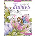 KC Doodle Art Fairies Coloring Book (Design Originals) 32 Fantasy Fairy Designs on Perforated Pages; Finished Examples, Sugge