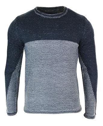 5f056a86b Pull homme col rond tricot classique chic décontracté chaud pour l ...