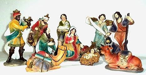 Fotos De El Pesebre De Jesus.Nacimiento De Resina Policromada Compuesto Por 11 Figuras